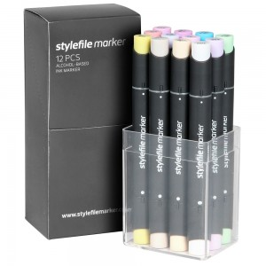 Stylefile Marker Set 12-Pastel
