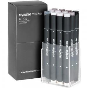 Stylefile Marker Set 12-Warm Grey