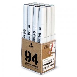 MTN 94 Graphic Marker Set 12 Grey