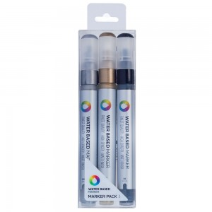 MTN Water Based Marker 3mm Set 3 Metal
