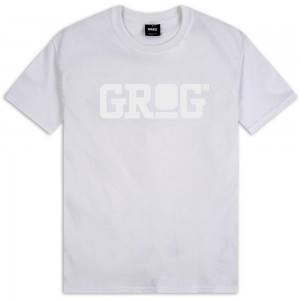 Grog T-shirt Classic Logo blanc-blanc