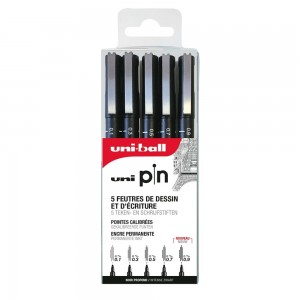 Set 5 Feutres Uni Pin 0.1 à 0.9mm