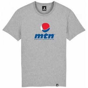 MTN T-shirt Logo tricolore gris