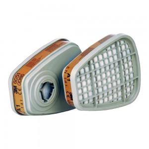Paire de filtres 3M 6051 anti-gaz A1 pour masque 3M 6000