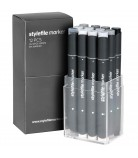 Stylefile Marker Set 12-Neutral Grey