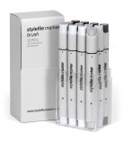 Stylefile Marker Brush Set 12-Neutral Grey