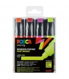 Set 4 Posca PC8K fluo pointe large