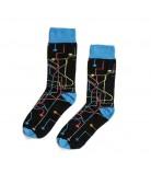 Chaussettes MTN Socks Metro noir